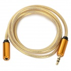 3.5mm Male to Female Audio Extension Cable - Golden (100cm)