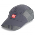 Outdoor Sports Sun-Blocking Breathable Peaked Cap / Baseball Hat - Deep Grey