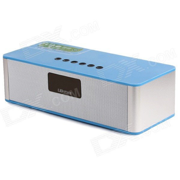 Uben Multimedia Home drahtlose Bluetooth v3.0 Speaker w / LED-Anzeige, Alarm, FM, TF - Blau