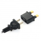 6A 125V / 250V EU / US Plug to UK Plug Adapter - Black