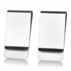 Portable Smart Stainless Steel Money Clips Holder  - Silver (2 PCS)