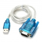 DIY USB to 9pin Male Serial Port Adapter Cable - Blue + Silver