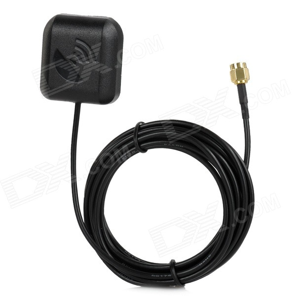 SMA Male Cable Car Vehicle GPS / DVD External Antenna - Black