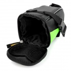 B-SOUL Outdoor Cycling Bike Zippered Saddle Bag w - Black + Green