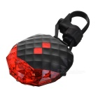 7-Mode 5-LED Red Light Bike Safety Tail Lamp w/ 2-Mode Parallel Laser - Black + Red (2 x AAA)