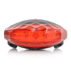 7-Mode 5-LED Red Light Bike Safety Tail Lamp w/ Laser - Black + Red
