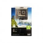 Amkov SJ5000S 20.0MP 1080P Wi-Fi Outdoor Sports Camera - Gold