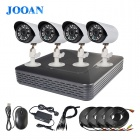 JOOAN TC-404AHD-4A 4-CH AHD Digital Video Recorder Outdoor 720P CCTV Camera Home Security System