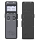 "1.2"" LCD Voice Recorder MP3 Player for Telephone - Grey + Black (8GB)"