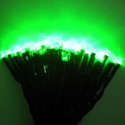 IN-Color 2W Solar Powered 100-LED Colorful Light String Light - Black