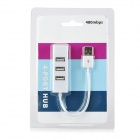 Mini USB 2.0 to 480Mbps USB 2.0 4-Port HUB - White