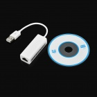USB 2.0 Male to RJ45 Female Network Adapter - White