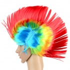 Cool Punk Cockscomb Style Fiber Wig - Red + Yellow