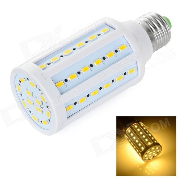 E27 12W 3000K 700lm SMD 5730 Warm White Bulb (110~130V)E27<br>Form  ColorWhiteColor BINWarm WhiteMaterialABS + aluminumQuantity1 DX.PCM.Model.AttributeModel.UnitPower12WRated VoltageAC 110-130 DX.PCM.Model.AttributeModel.UnitConnector TypeE27Emitter TypeOthers,5730 SMD LEDTotal Emitters60Theoretical Lumens700 DX.PCM.Model.AttributeModel.UnitActual Lumens630~700 DX.PCM.Model.AttributeModel.UnitColor Temperature3000KDimmableNoBeam Angle360 DX.PCM.Model.AttributeModel.UnitPacking List1 x Corn lamp<br>