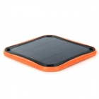 2.5W 3600mAh soldrivna laddare makt bank - svart + Orange