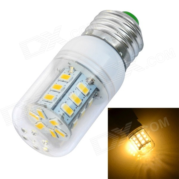 JIAWEN E27 4W Warm White 500lm 24-SMD LED Corn Light Bulb - White