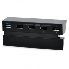 DOBE TP4-006 1-Port USB 3.0 + 4-Port USB 2.0 Hub Extender for PS4 - Black