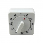 60 Minutes Reminder Timer Kitchen Timing Device - White + Black