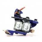 Fashion Design Tattoo Machine Liner Shader Gun - Blue