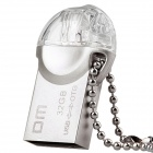 DM PD002 USB 2.0 OTG Flash Drive w/ Micro USB for Smart Phone / Computer - Silver (32GB)