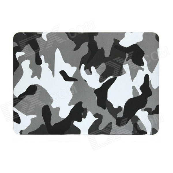 Camouflage PC Cover Case for APPLE MacBook Air - Grey + White