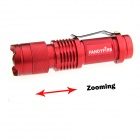 FANDYFIRE XP-E Q5 LED 400lm 3-Mode Zooming White Flashlight - Red