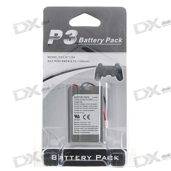 Li-Ion Replacement Battery for PS3 Controllers (3.7V 1100mAh)