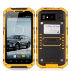 "A9 Android 4.2 MTK6582 Quad-Core 3G Rugged Phone w/ 4.3"", 8GB ROM, Wi-Fi, NFC, GPS, BT, FM - Yellow"