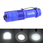 FANDYFIRE XP-E Q5 LED 400lm 3-Mode Zooming Bright White Light Flashlight - Blue (1 x AA / 14500)