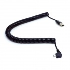 CY Micro USB M Right Angled to Type-A M Spring Charging Cable - Black