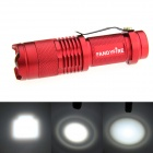 FANDYFIRE XP-E Q5 LED 400lm 1-Mode Zooming Bright White Light Flashlight - Red (1 x AA / 14500)