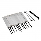 Portable Durable Steel Unlocking Lock Pick Tool Set - Black + Silver
