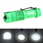 FANDYFIRE XP-E Q5 LED 400lm 1-Mode Zooming Bright White Light Flashlight - Green (1 x AA / 14500)