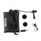 BOYA BY-LM10 Omni Directional Lavalier Mic for IPHONE, Samsung - Black