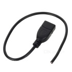 CY U2-315-0.3M USB 2.0 A Type Female to 4 Wires Open Cable (30cm)