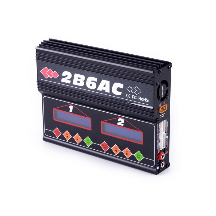 2B6AC Balance Multi-functional Charger Built-in Power Supply - Black