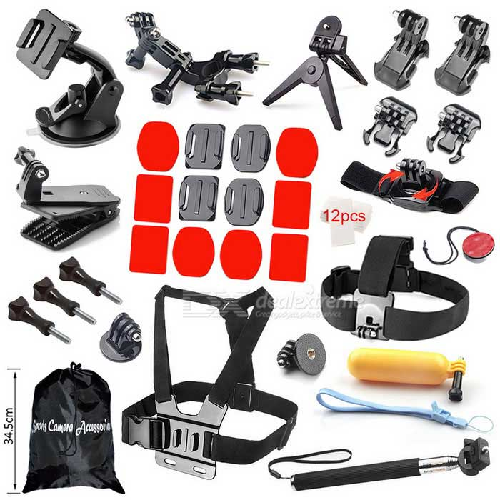 Outdoor Sports Accessories Kit for GoPro Hero 1/2/3/3+/4 - Black