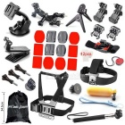 34-In-1 Outdoor Sports Accessories Kit for GoPro Hero1 / 2 / 3 / 3+ / 4 - Black