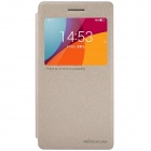 NILLKIN Protective PU Leather + PC Flip Open Case w/ View Window for  OPPO R1C / R1X - Golden