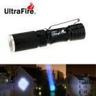 UltraFire Mini LED 280lm 3-Mode Cold White Zooming фонарик - черный