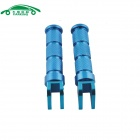 CARKING Universal Aluminum Alloy Motorcycle Rear Back Pedals - Blue (2PCS)