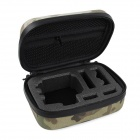 Zippered Storage Bag Case w/ Quick Release Hook for GoPro - Camouflage