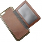 MO.MAT TPU Wallet Style Case w/ Stand for IPHONE 6 - Deep Brown