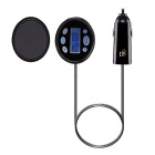 Bluetooth V4.0 FM Transmitter Car Kit w/ Music Player / Handsfree - Black