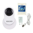 "ESCAM Ant QF605 1/4"" CMOS 1.0MP 720P P2P IP Camera - White (EU Plug)"