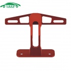 Motorcycle CNC Aluminum Back License Plate Bracket - Red