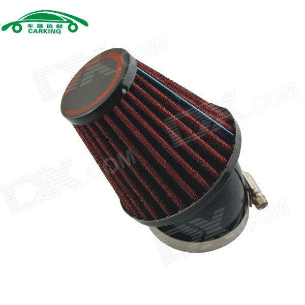 Universal Mushroom Head Style Motorcycle Air Filter - Red (48mm)