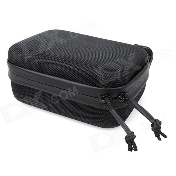 Storage Bag Case w/ Quick-Releasing Hook for GoPro Hero - Black (S)Bags &amp; Cases<br>Form ColorBlackQuantity1 DX.PCM.Model.AttributeModel.UnitMaterialEVAShade Of ColorBlackCompatible ModelsGoPro Hero 1,GoPro Hero 2,GoPro Hero 3,GoPro Hero 3+,GoPro Hero 4Water ResistantNOAnti-ShockYesSizeSDimension16.5 x 12 x 6.8 DX.PCM.Model.AttributeModel.UnitInner Dimension16 x 11 x 5cmOther FeaturesSuper wear-resistant and durable; Built-in mesh and YKK zipper.Packing List1 x EVA case1 x Quick-release hook<br>