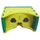 "Cardboard Virtual Reality 3D Glasses for 3.5-6"" Phone - Yellow"