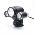 ZHISHUNJIA K-3000 XM-L T6+ 2 x R2 4-Mode 1800lm 3-LED White Bike Light